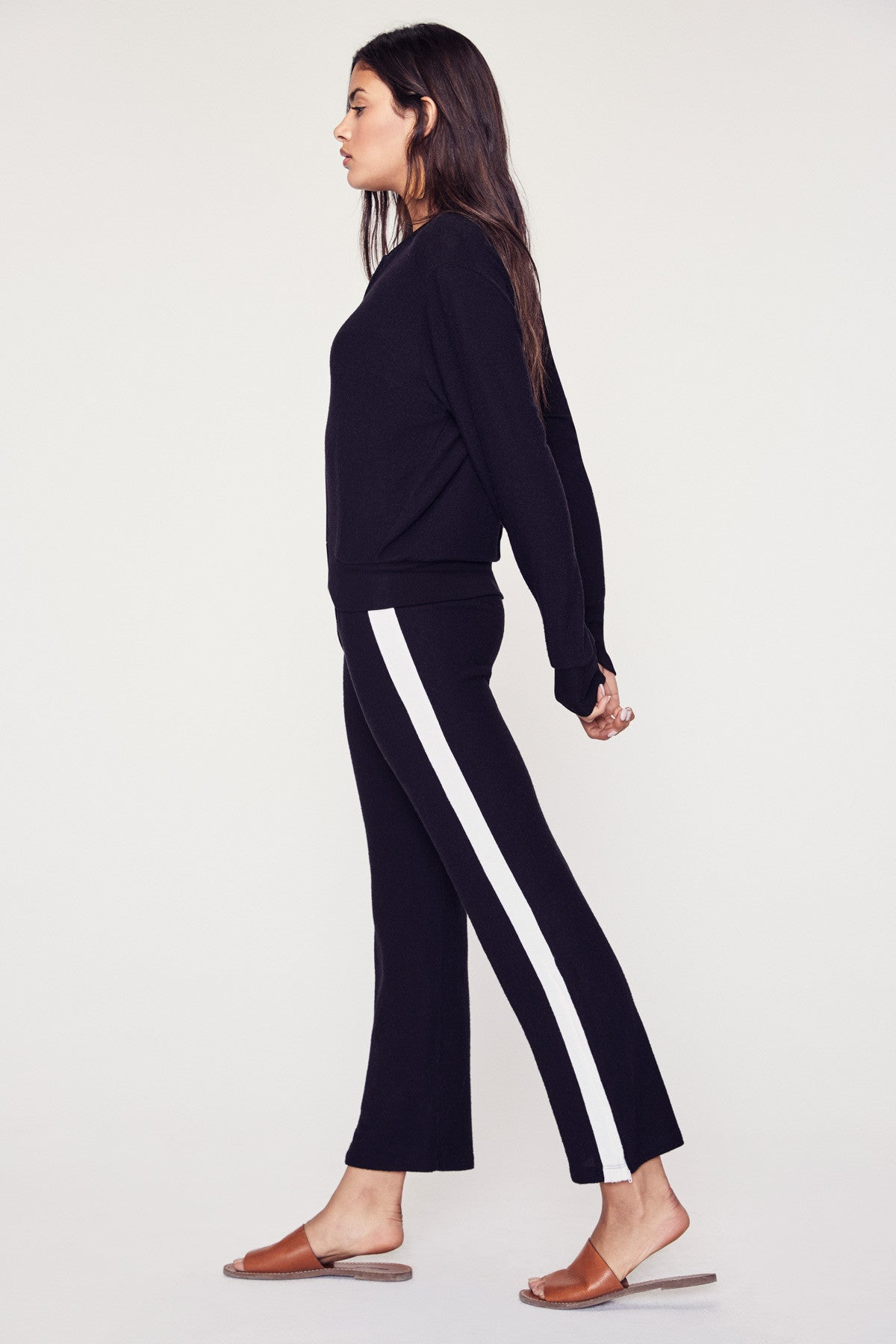 Sweater Track Pant - Black