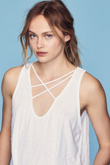 Triple Cross Tank - White