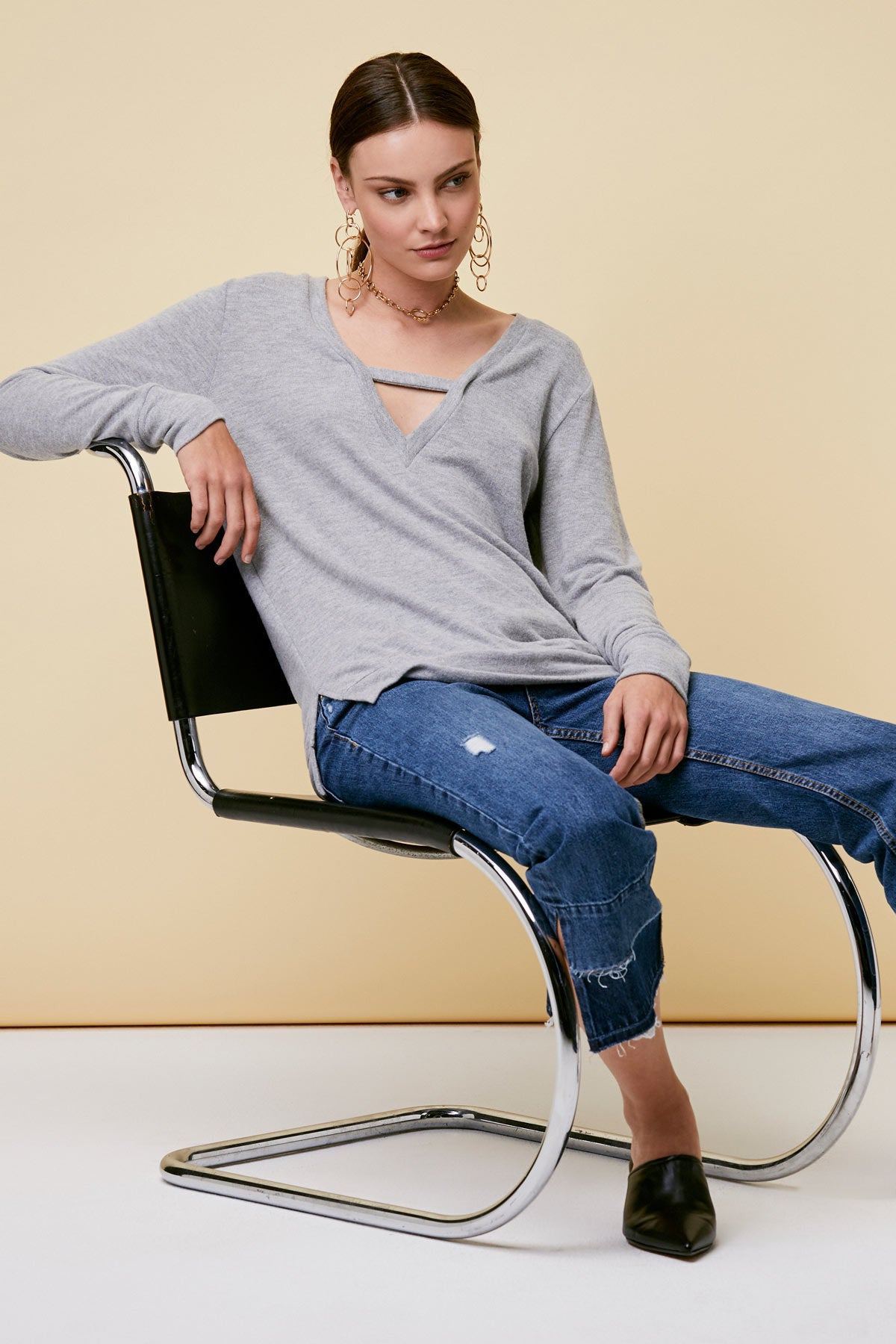 Vetica Sweater - Heather Grey