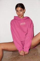LNA Logo Hoodie in Pink Mauve