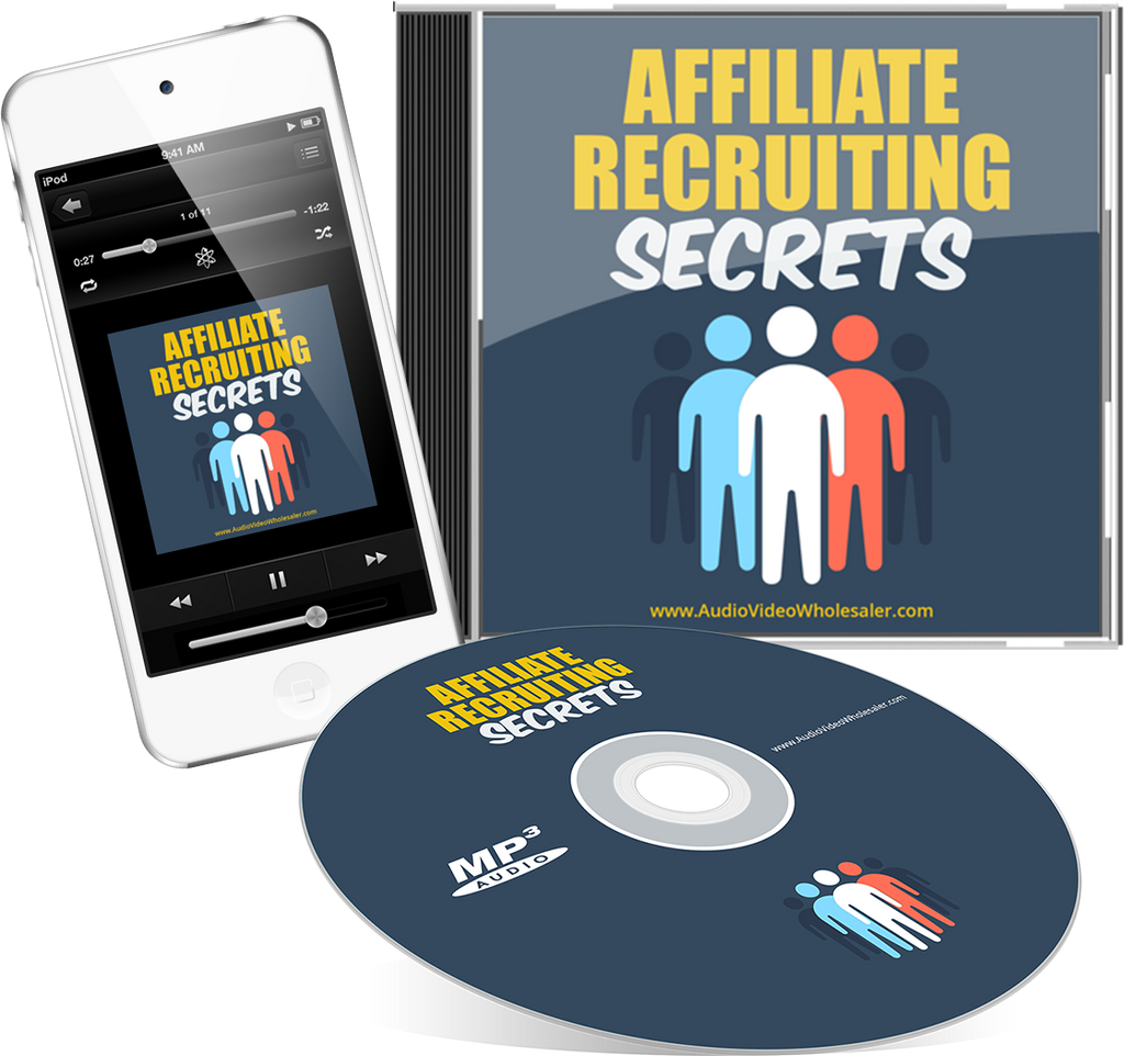 Affiliate Recruiting Secrets Audio Book (Master Resell Rights License)
