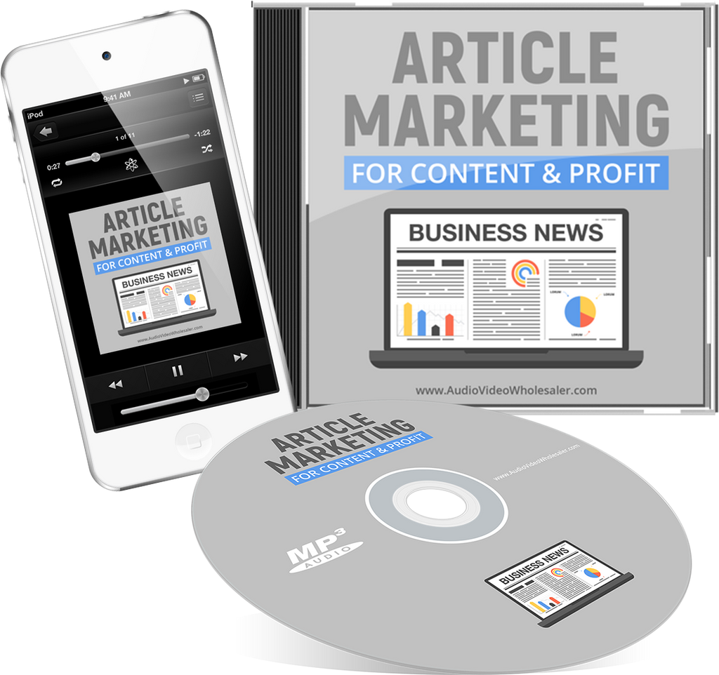 Article Marketing for Content & Profit Audio Book (Master Resell Rights License)
