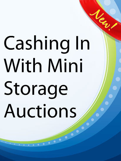 Cashing In With Mini Storage Auctions  PLR Ebook