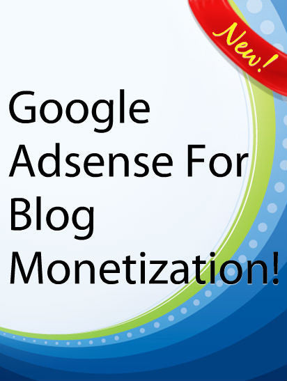 Google Adsense For Blog Monetization  PLR Ebook
