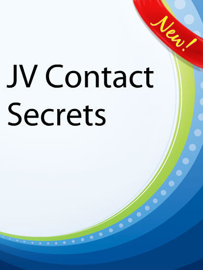 JV Contact Secrets  PLR Ebook
