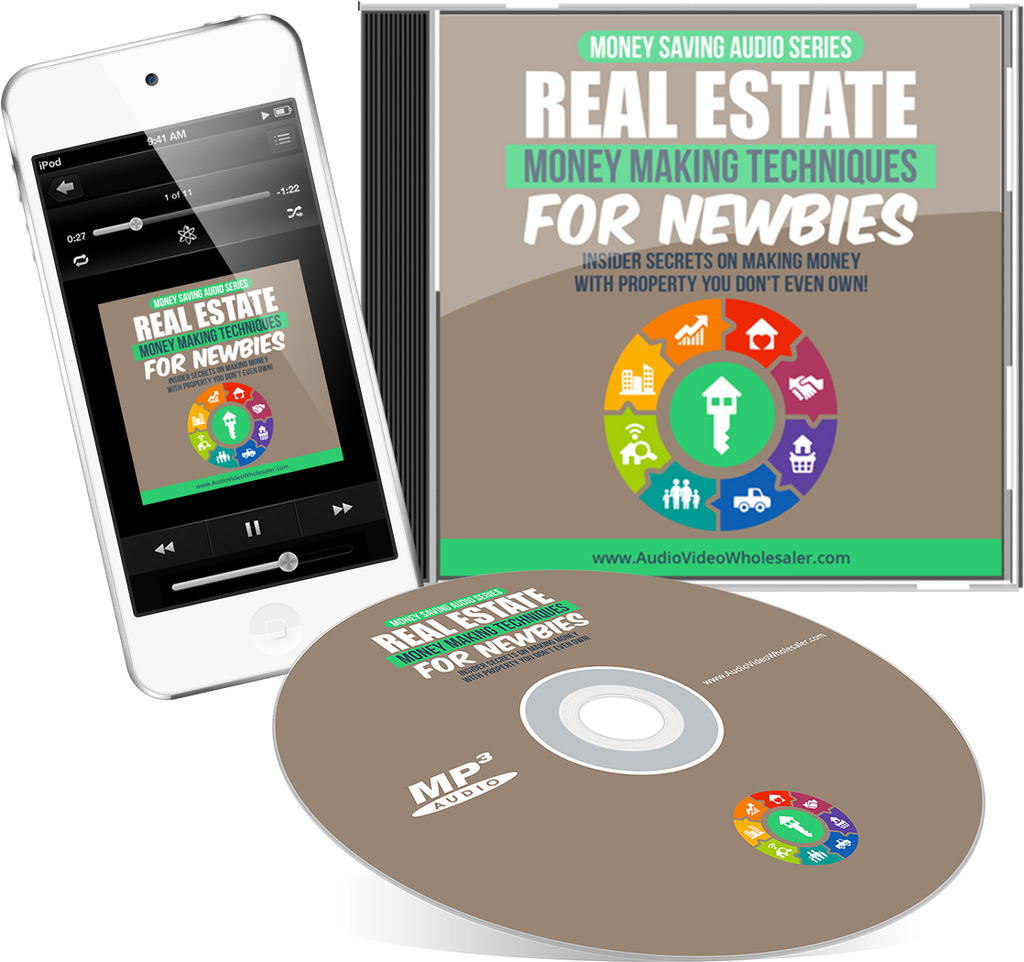 Real Estate Money Making Techniques For Newbies Audio Book (Master Resell Rights License)