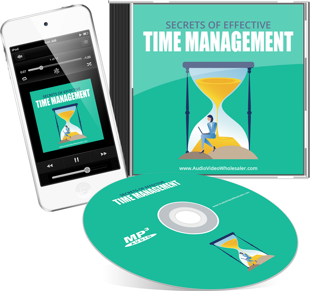 Secrets of Effective Time Management Self Help Audio Book (Master Resell Rights License)