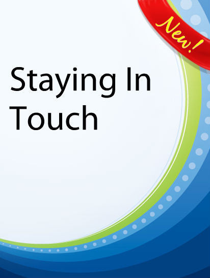 Staying In Touch  PLR Ebook