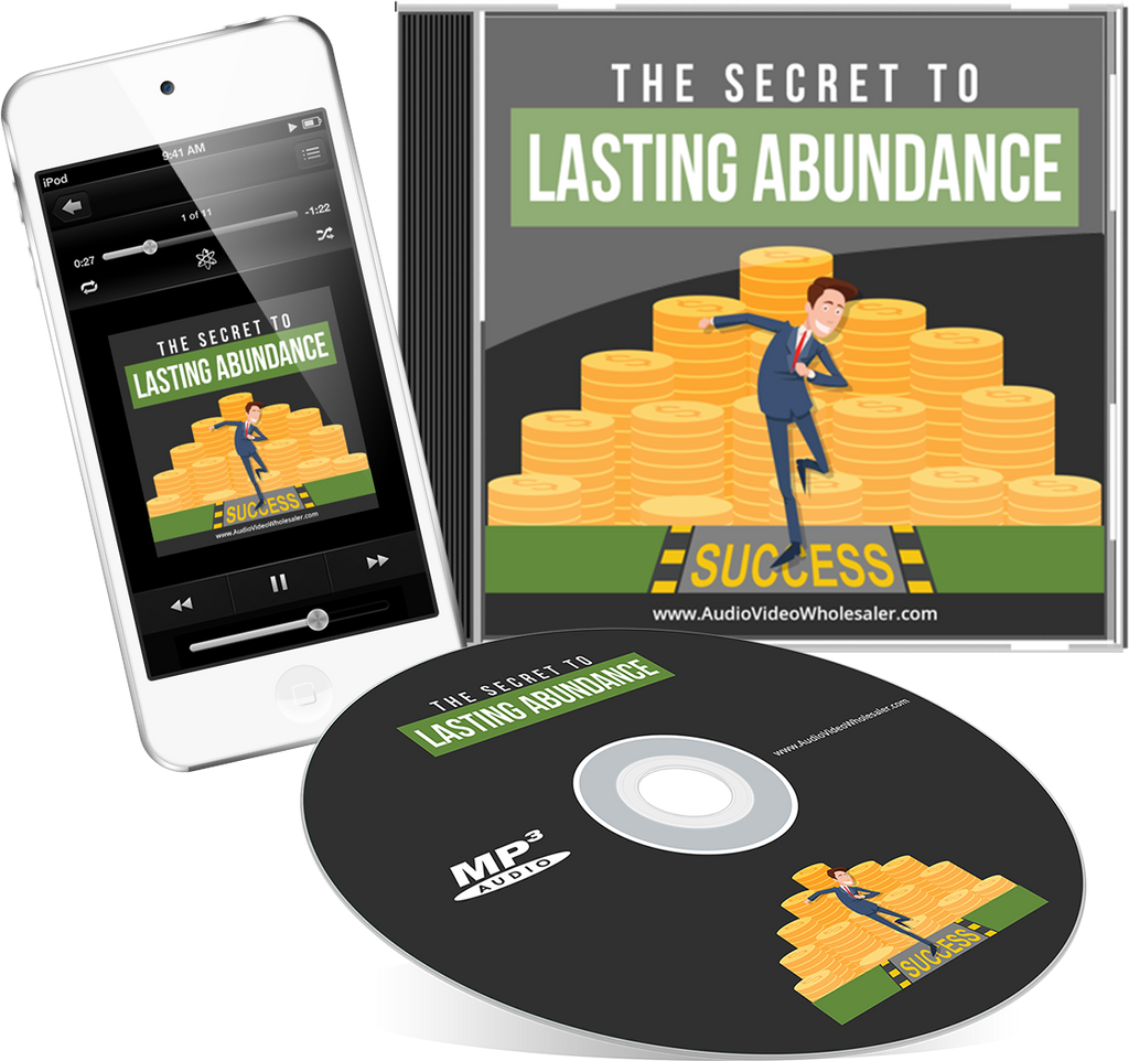 The Secret to Lasting Abundance Self Help Audio Book (Master Resell Rights License)