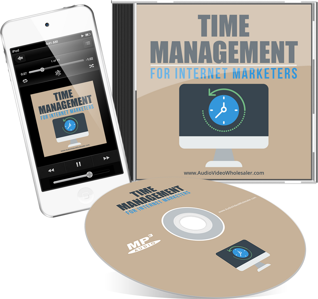 Time Management for Internet Marketers Audio Book (Master Resell Rights License)