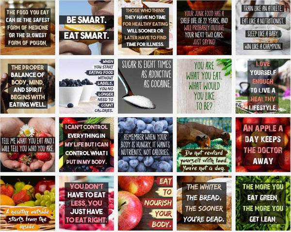 100 Healthy Eating Social Posters