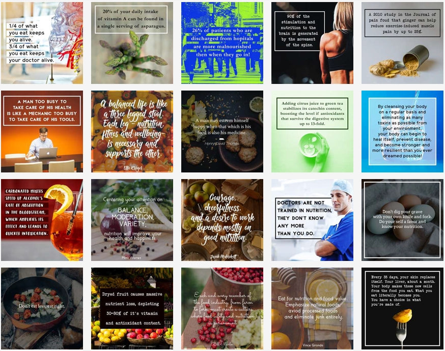 100 Healthy Nutrition Social Posters