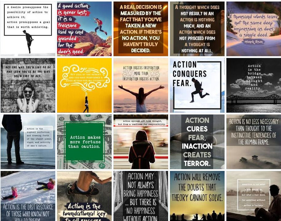 100 Taking Action Based Social Posters