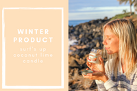 WINTER PRODUCT - COCONUT LIME CANDLE FROM SURF'S UP