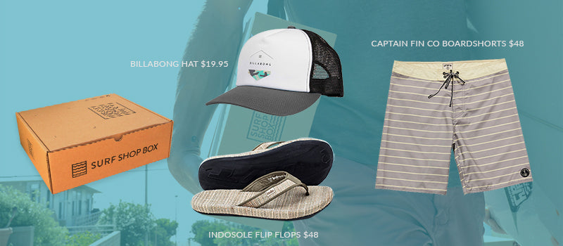 Inside Surf Shop Box - September Box