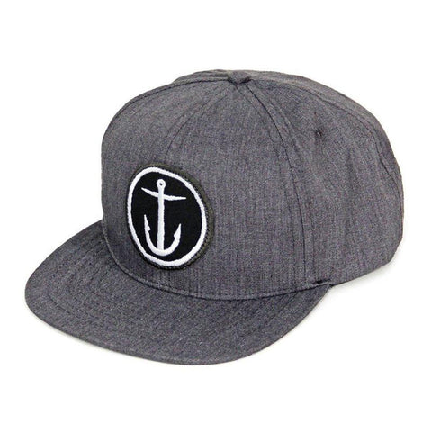 Captain Fin Co. - OG Anchor 6 Panel Hat - Grey