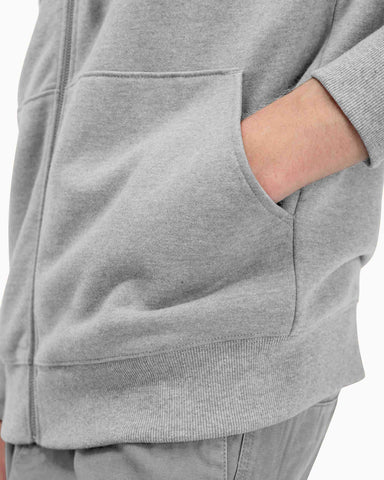 Richer Poorer - Men's Fleece Zip Hoodie - Light Heather Grey