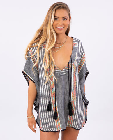 Rip Curl - Baja Stripe Cover Up - Black