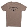 Fish At Sea - Territory Tee - Pewter