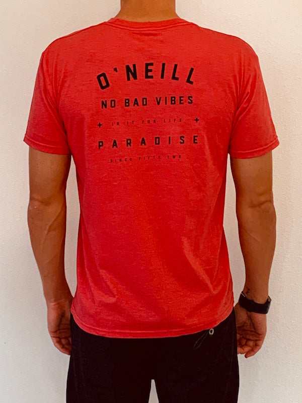 O'Neill - No Bad Vibes Tee - Red