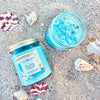 Mind Mana Creations - Stay Salty – Sea Salt & Orchid and Sea Breeze – Aquamarine 8oz Soy Wax Candle