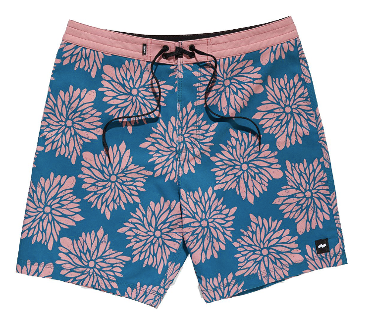 Banks - Daisy Chain Boardshort - Glacier Blue