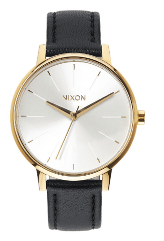 Nixon - Kensington Leather Watch - Gold/White/Black