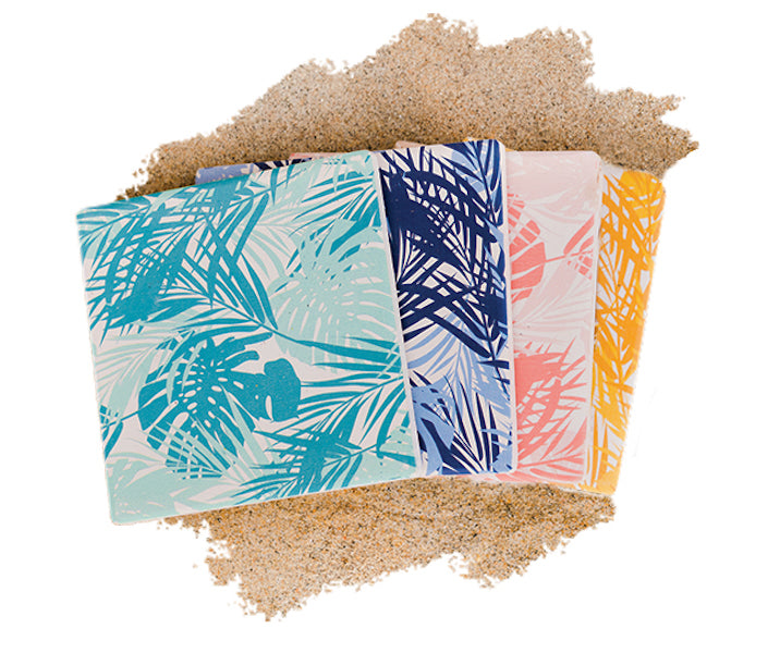 Beach + House - 4 Pack Palm Coasters - Multi