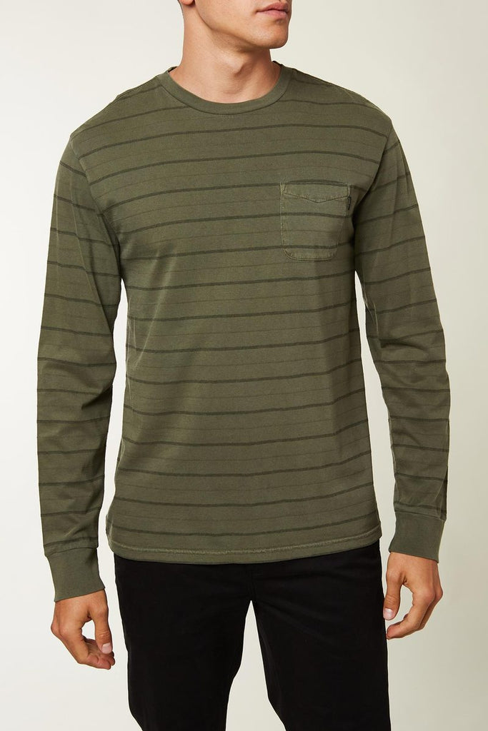 O'Neill - Dinsmore Long Sleeve Pullover - Army Green