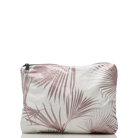 Aloha Collection - Mid Day Palms Pouch - Rose Gold