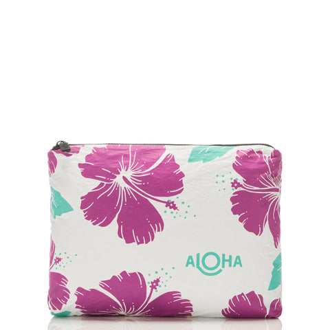Aloha Collection - Mid Hibiscus Pouch - Pitaya