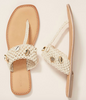Salt + Umber - Oceana Macrame Shell Thong - Natural