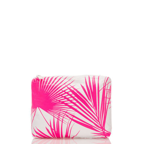 Aloha Collection - Small Day Palms Pouch - Neon Pink