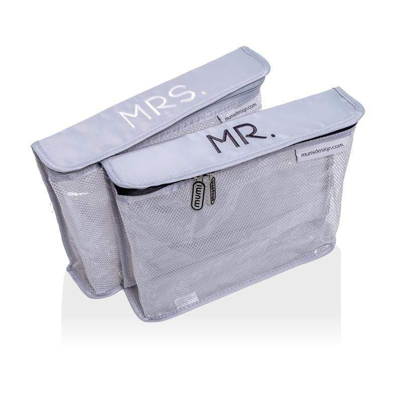 mumi TOILETRY PACKING CUBES Mr & Mrs toiletry cubes honeymoon set