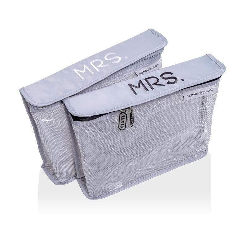mumi TOILETRY PACKING CUBES Mrs & Mrs toiletry cubes honeymoon set