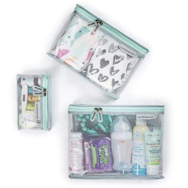 mumi TOILETRY PACKING CUBES piccolo toiletry cubes (set of 3)