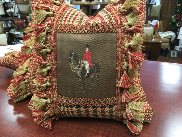 Foxhunter pillow 12x12
