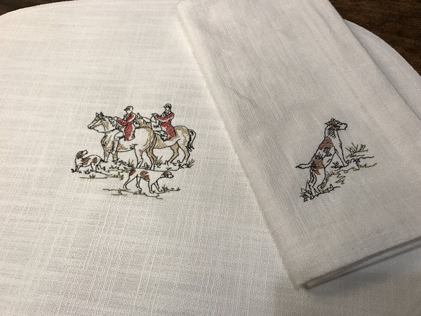 Hunt Scene Placemats and Napkins
