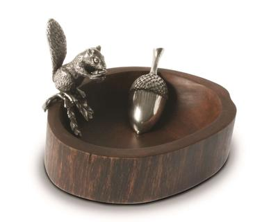 Pewter Squirrel Nut bowl