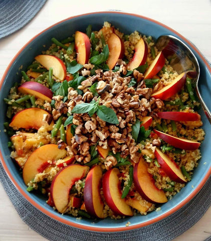 My friend Sara's nectarine bulgur salad