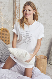"""Morning Mantra"" Bed Tee"
