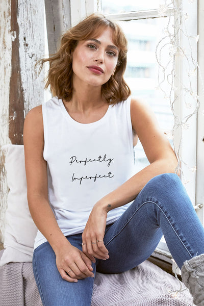 """Perfectly Imperfect"" Muscle Tank"