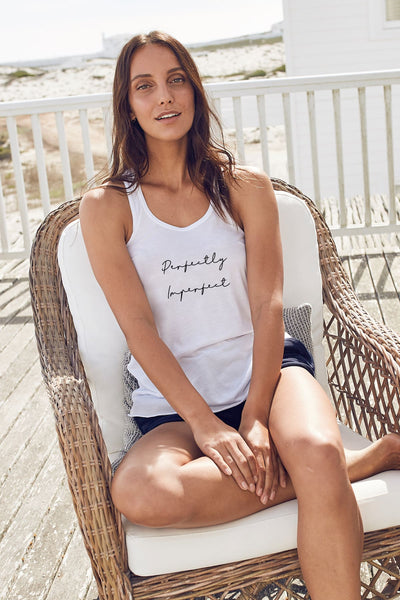 """Perfectly Imperfect"" Flowy Tank"
