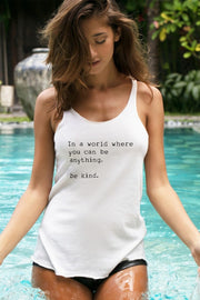 """Be Kind"" Racerback Tank"