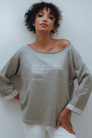 """Be Kind"" At Home Sweater"