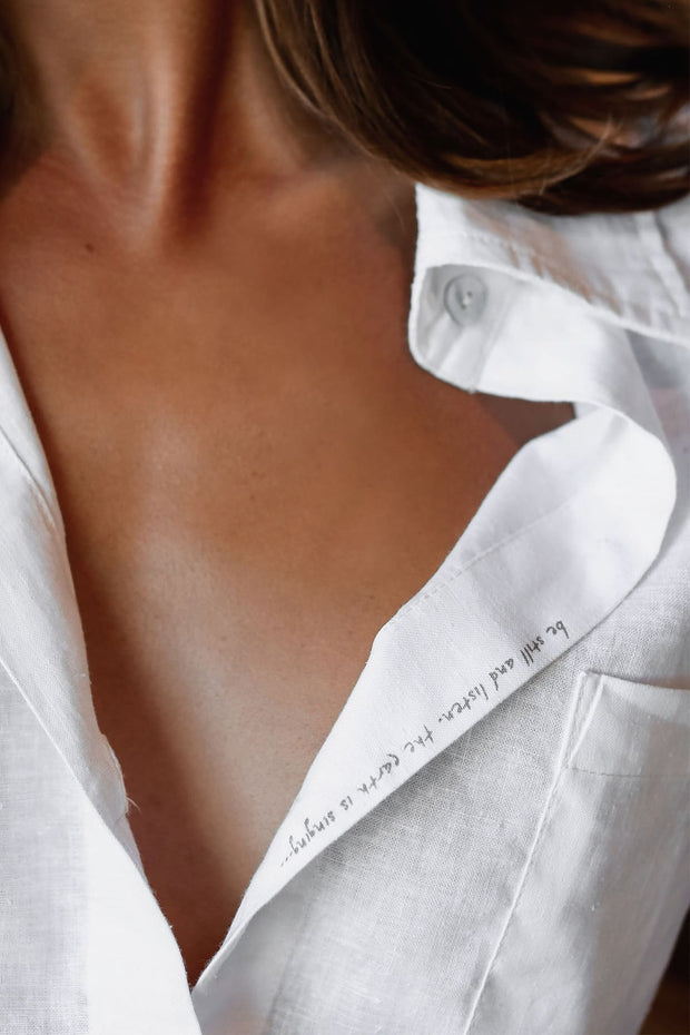 Luxury Hemp Boyfriend Shirt (Hidden Message!)