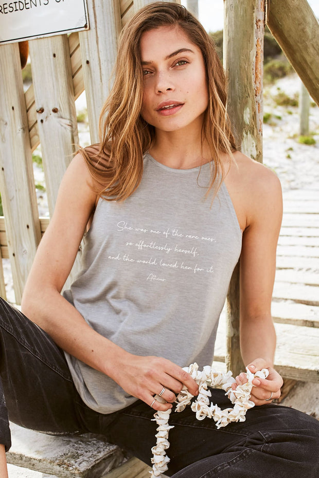 """Effortlessly Herself"" Flowy High Neck Tank"