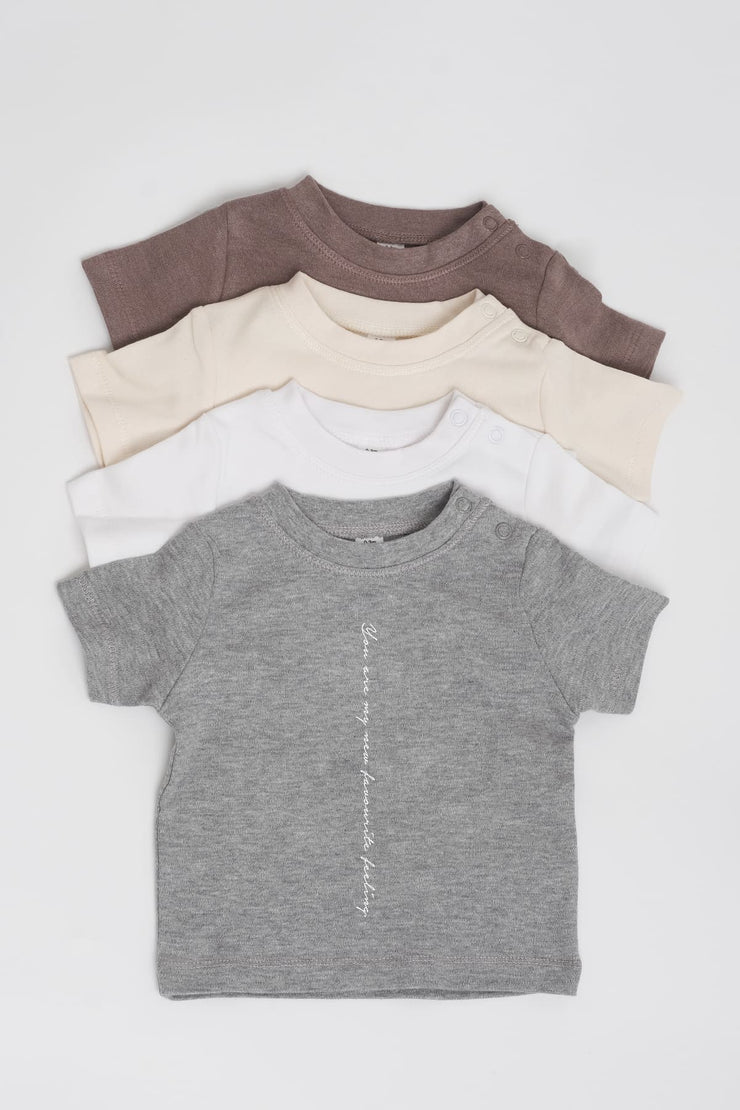 """Favourite"" Cotton Baby Tee"