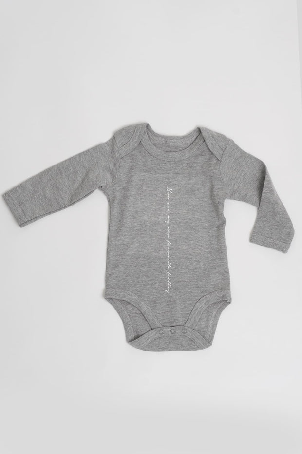 """Favourite"" Organic Long Sleeve Baby Grow"