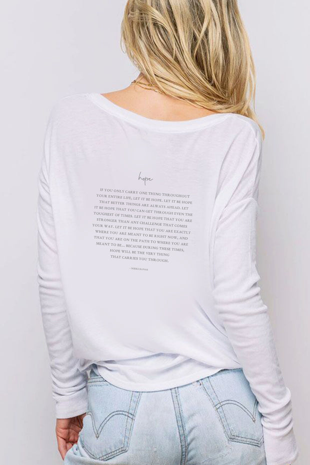 "'Hope""  Long Sleeve Tee"